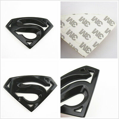 5220#509 1Pc Superman Black Red Yellow 60Mm Metal Hq 3D Badge Car Trunk Side D