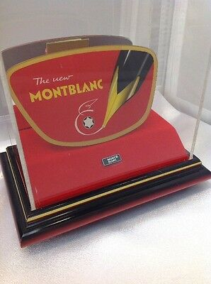 Montblanc Mesiterstuck Pen German Glass Plaque Display 1940's by Fritz Borsl Kg