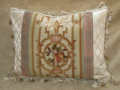 Spectacular 19Th C Authentic French Aubusson Tapestry Pillow #2