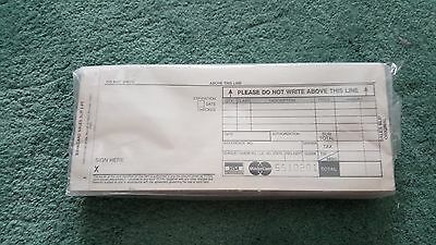 Bankcard Sales Slips - 2 Part - Sealed Pkg Of 100  - Free Shipping  !!!!!!!!!!!!