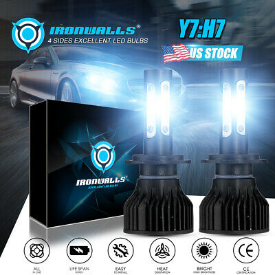 H7 IRONWALLS LED Headlight Conversion Kit 1020W 153000LM Lamp Light Bulbs 6000K