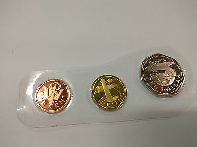 Barbados Proof Coins King Neptune Trident Lighthouse Flying Fish
