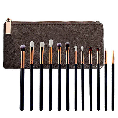 12PCS Kabuki Make up Brush Set Foundation Blusher Concealer Eyeshadow Tools UK