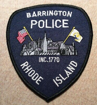 RI Barrington Rhode Island Police Patch