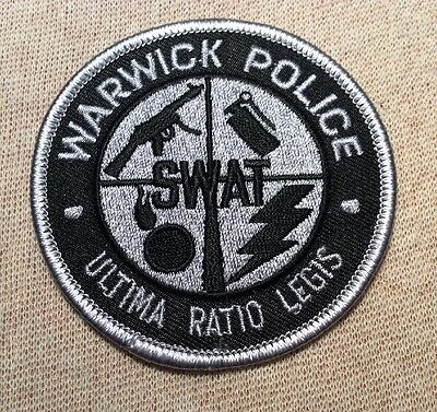 RI Warwick Rhode Island SWAT Police Patch (3In)