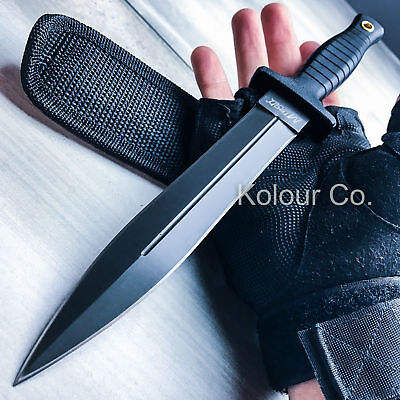 """11"""" M-TECH Fixed Blade COMBAT KNIFE Dagger Tactical Blade Army Bowie w/ SHEATH"""