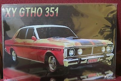 ford xy gtho 351 car metal sign MAN CAVE vintage style car sign