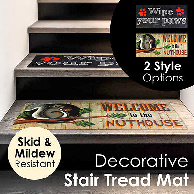 Decorative Skid and Mildew Resistant Stair Tread Floor Mat Rug Carpet Home Decor