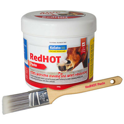 Kelato RedHOT Paste 500g with Brush Red Hot for Horses & Dogs
