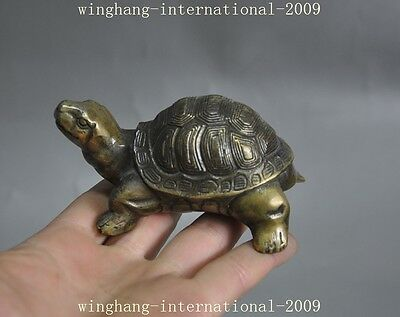 old china chinese bronze fengshui auspicious animal turtle tortoise lucky statue