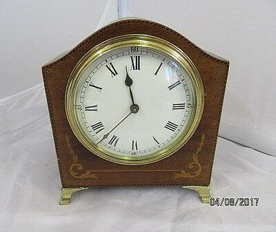 French Marquetry Inlaid 8 Day Mantel Clock