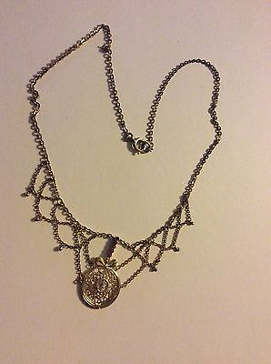 Collier Double rote Steine Perle