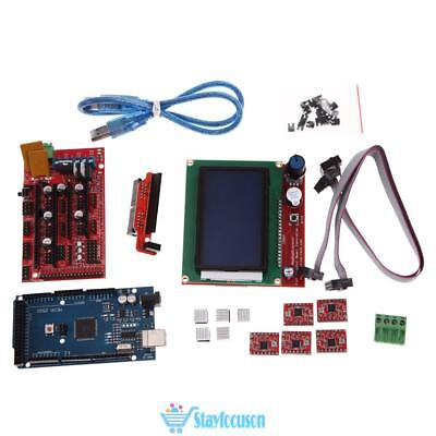 3D Printer RAMPS1.4 Kit +Mega2560+5pcs A4988+LCD 12864 Display Panel for RepRap