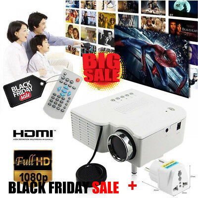 HD1080P 3D LCD+LED  Mini Proyector Home Teatro USB/SD/HDMI/AV/VGA WiFi  IH