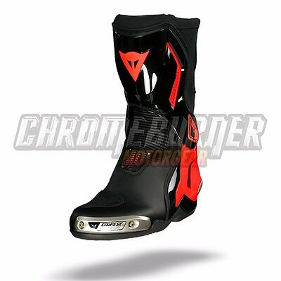 Dainese Torque D1 out Racing Boots Black Fluo-Red, NEW!