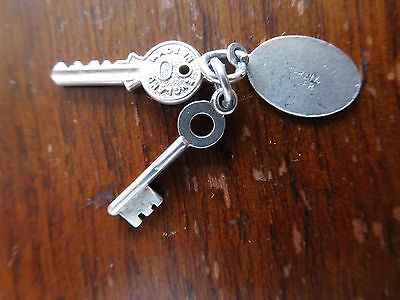 Found Vintage  Solid Silver  Ornate Detailed Door Keys  Pendant/ Charm