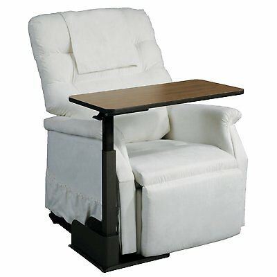 Drive Medical Deluxe Seat Lift Chair Overbed Table, Walnut