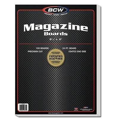 "1 Pack of 100 BCW 8 1/2"" Magazine Backing Backer Boards Free Shipping"