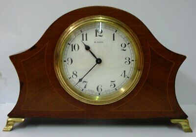 French Bayard Mahogany Mantel Clock