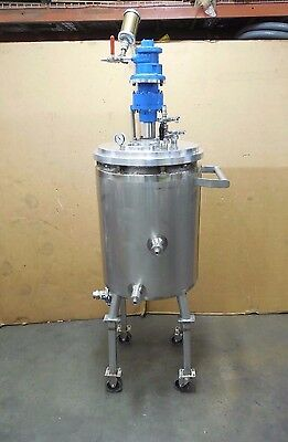 Custom Metalcraft  30 Gal Gallon Stainless S/s Jacketed Air Mixer Tank Vessel