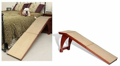 Pet Stairs For High Beds And Chair Bedside Ramp For Aging Dogs Freestanding Wood