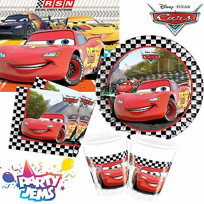 Pixar Cars Formula Tableware Children's Birthday Party Plates Cups Napkins