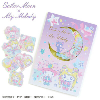 Sailor Moon x My Melody Flake Seal Sanrio Kawaii Cute F/S Anime Japan