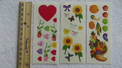 Creative Memories *FLOWERS & FRUIT* for Cardmaking & Crafting 3 Sheets