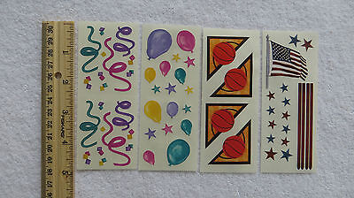 Creative Memories *PARTY & FUN TIMES* for Cardmaking & Crafting 4 Sheets
