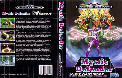 Mystic Defender Sega Mega Drive PAL Replacement Box Art Case Insert Cover Repro