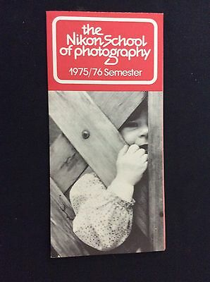 The Nikon School of Photography 1975/76 Semester  Guide SCHEDULE REGISTRATION