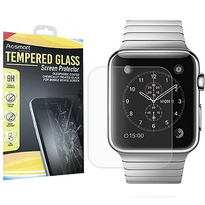 New For Apple Watch Premium Slim Tempered Glass Film Screen Protector 42/38mm