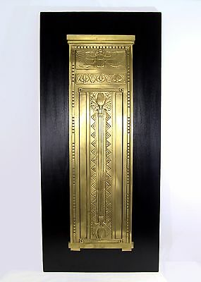 Antique Egyptian Revival Solid  Bronze Wall Sculpture / Panel / Relief