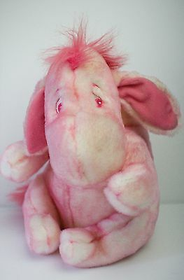 "Official Disney Store Eeyore Pink 12"" plush toy with detachable tail"