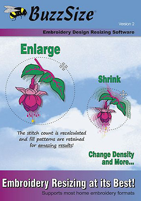 BuzzSize Embroidery Design Resizing Software