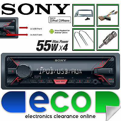 Ford Ka   Sony Mechless Mp Front Usb Aux Car Stereo Radio Blue