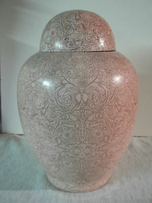 Adult Cremation Urn~Pink on Pink Paisley~~Aluminum~~200#~~Noticeably Imperfect