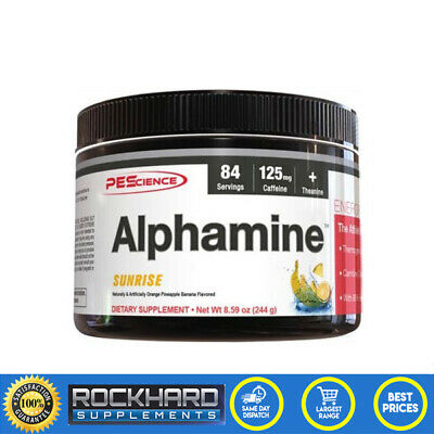 PES Alphamine Thermogenic Energy 244g 84 Servings - Focus - Clean Energy