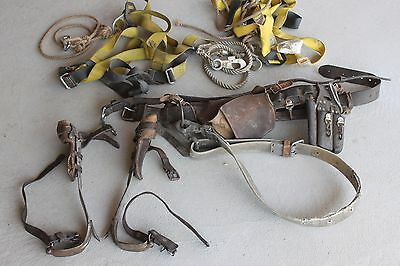 Lineman / Tree climbing spikes, belts pouches & more Melling Forging Vintage 58'