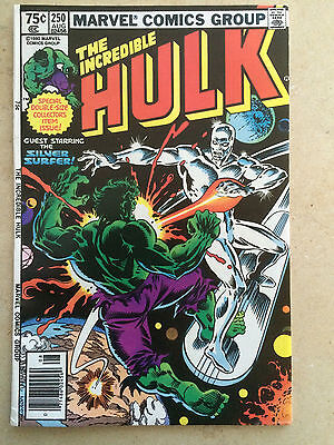 Incredible Hulk #250 vs. Silver Surfer & Galactus! High Grade! Marvel Comics
