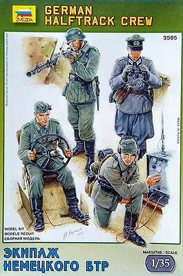 Zvezda Models 1/35 German Halftrack Crew (4 Figures)