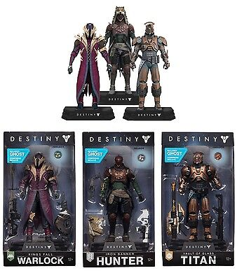 "Destiny 7"" Action Figure Set Of 3 Hunter, Titan, Warlock Colour Tops Mcfarlane"