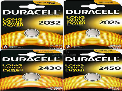10 5 2 DURACELL CR2025 CR2032 CR2450 CR2430 Lithium 3V Cell Coin Button Battery