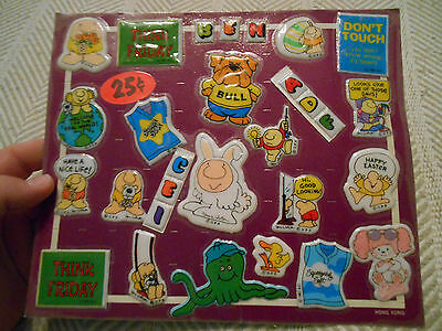 Gumball Machine Display Card Prizes, Stickers by Tom Wilson UPS 1982