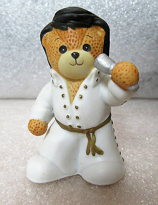 Lucy & Me ~ Elvis Singer ~ Halloween Costume Porcelain Teddy Bear Figurine