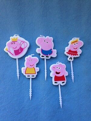 Peppa Pig Birthday Candles Set Of 5