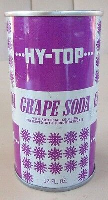Tough Find Clean 1967 Straight Steel Pull Tab HY-TOP Grape Soda Pop Can Top Open
