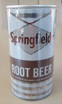 Clean 1967 Straight Steel Pull Tab Springfield Root Beer Soda Can Bottom Open