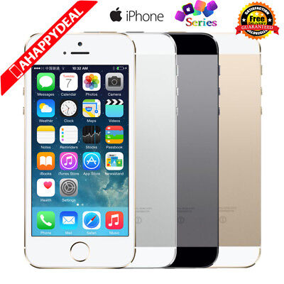 Apple iPhone 5S 5C 4S Smartphone - 16/32/64GB Unlocked Gold Gray Silver Red Gift