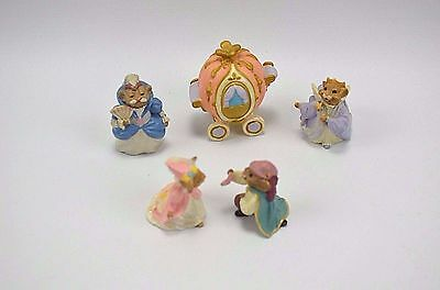 Hallmark Cards Inc 1994 Merry Miniatures Cinderella 5 Pc Figurine Set NO BOX